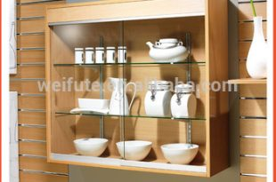 High End Wall Mounted Wood Furniture Showcase Designs,Glass .