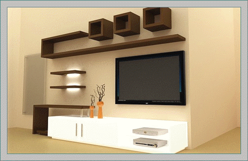 LCD TV Showcase Designs for | Tv unit furniture, Modern tv wall .