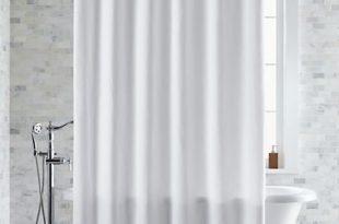 Pebble Matelassé White Extra-Long Shower Curtain + Reviews | Crate .