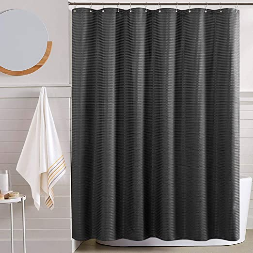 Amazon.com: Water Repellent Shower Curtains for Bathroom Black .