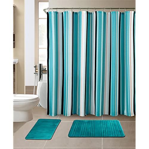 Turquoise Shower Curtains: Amazon.c