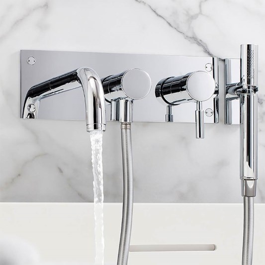 Crosswater Design Wall Mounted 3 Hole Bath Shower Mixer with .