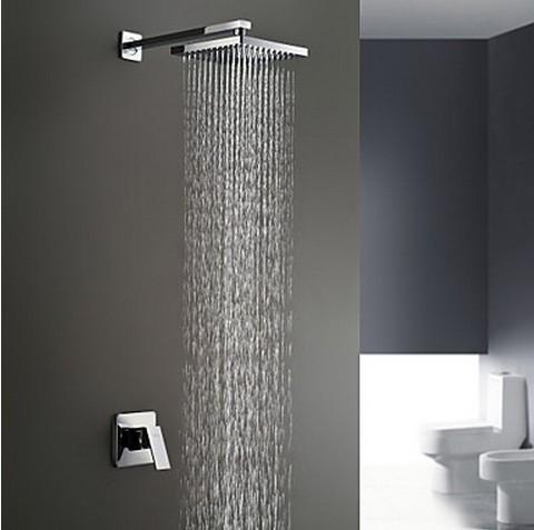 Chrome Wall Mount Rain Single Handle Shower Tap TSC031 [TSC031 .