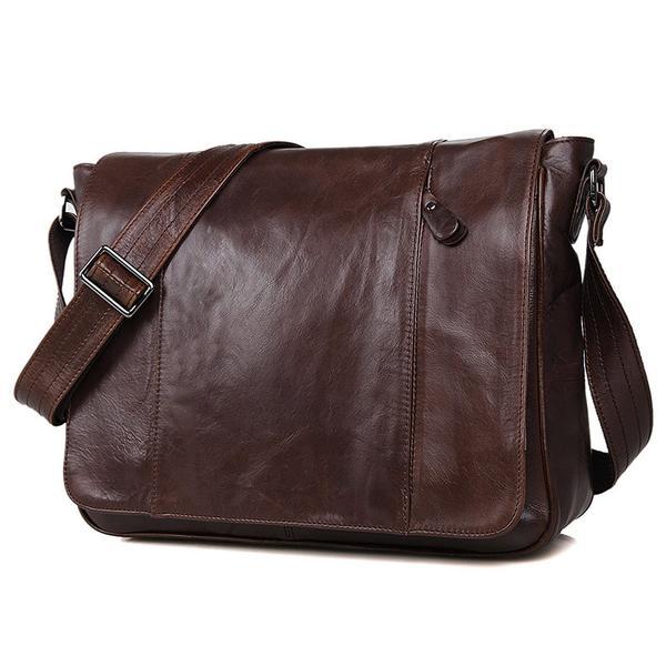 Bike Messenger Bag Men Vintage Leather Bags Crossbody Side Bags .