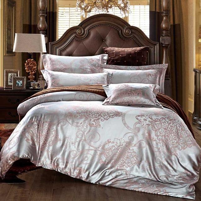 2018 Luxury Silk Jacquard Bedding Sets Hot Sale Designer Bed Sheet .