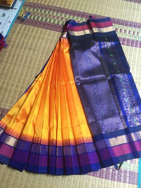Kanchipuram Korvai Silk Cotton Sarees Manufacturer in Dindigul .