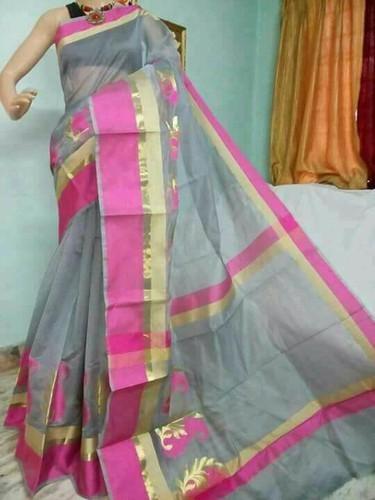 Border Festive Wear Monica Silk Cotton Sarees, With Blouse Piece .
