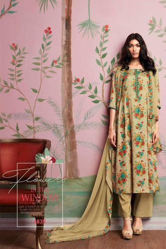 Silk Flower Printed Salwar Kameez at Rs 1691/piece | Silk Salwar .