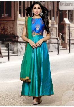 Silk Salwar Kameez Online - Designer Pure Silk Salwar Sui