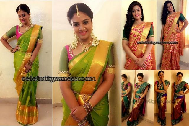 Sreemukhi Traditional Silk Sarees - Saree Blouse Patterns | Bridal .