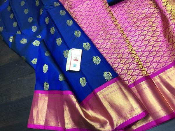 Designer Kanchipuram Soft Silk Saree – FashionVib
