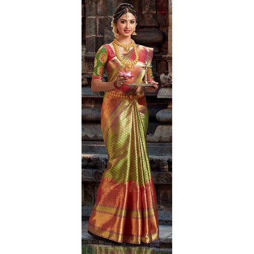 Wedding Wear Pure Silk Saree, 5.5 M (separate Blouse Piece), Rs .
