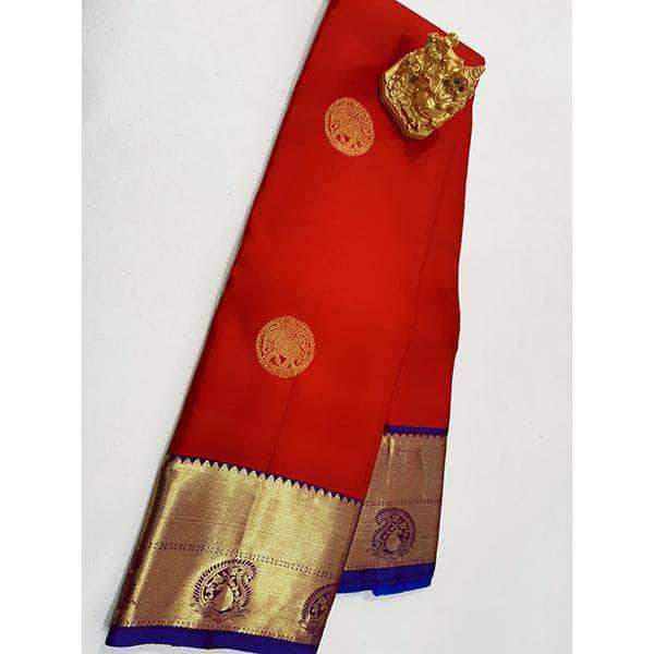 Handloom Kanchipuram Silk Sarees – FashionVib