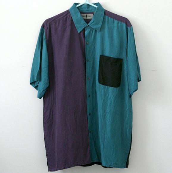 Robert Stock Shirts | Vintage 90s Silk Shirt Charlotte Hornets .
