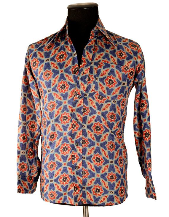 Vintage 1960's 70's Men's SILK Shirt/ Chelsea by TheHoneyWitch .