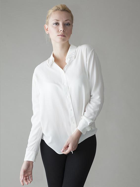 The Hepburn silk shirt: White Glass Menagerie | silk shirts by VAUGH