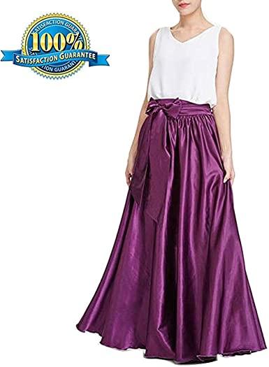 My Super Star Long Skirts for Women Dresses Like Silk Satin Skirts .