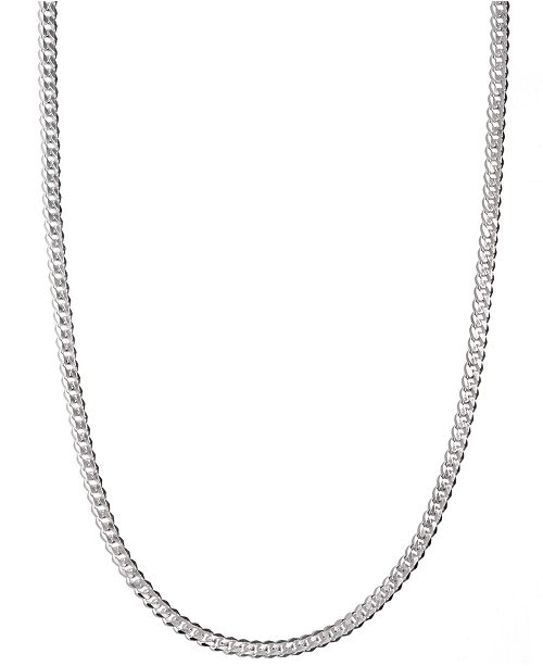 "Macy's Men's Sterling Silver Necklace, 24"" 5-1/2mm Chain & Reviews ."