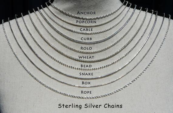 Sterling Silver Chain New Layering Silver Chains | Et