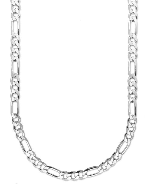 "Macy's Men's Sterling Silver Necklace, 22"" 8mm Figaro Chain ."