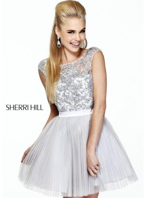 Short silver dress | Sherri Hill 21167 Silver Dress for $450 .
