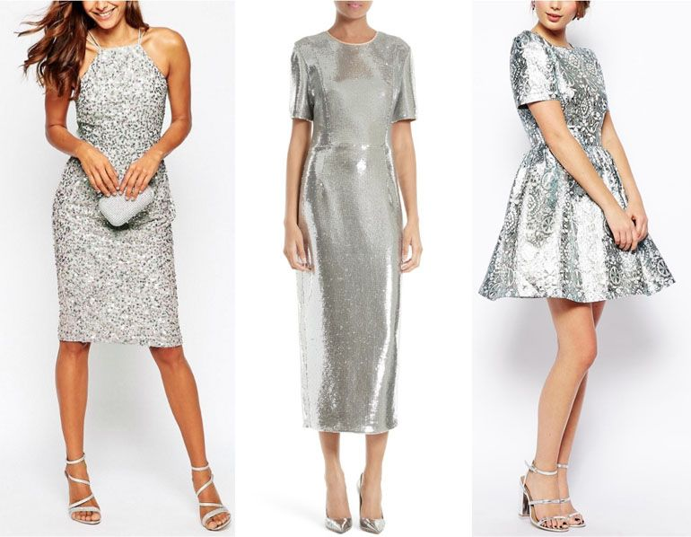 What Color Shoes to Wear with Silver Dress & Outfit | Silver dress .