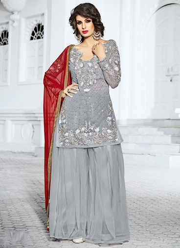 15 Dazzling Designs of Silver Salwar Suits For Every Occasio