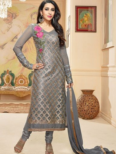 15 Dazzling Designs of Silver Salwar Suits For Every Occasion .