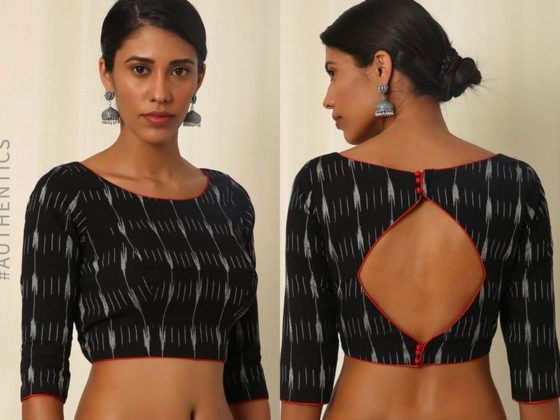 8 Simple Blouse Back Neck Design Images To Stun You! | Simple .