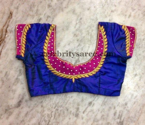 Simple Raw Silk Blouse | Fashion blouse design, Fancy blouse .