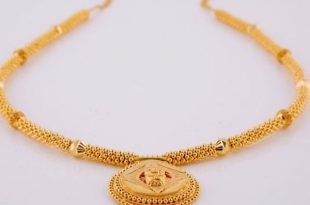 Simple Gold Necklace Design | Indian gold necklace designs, Gold .