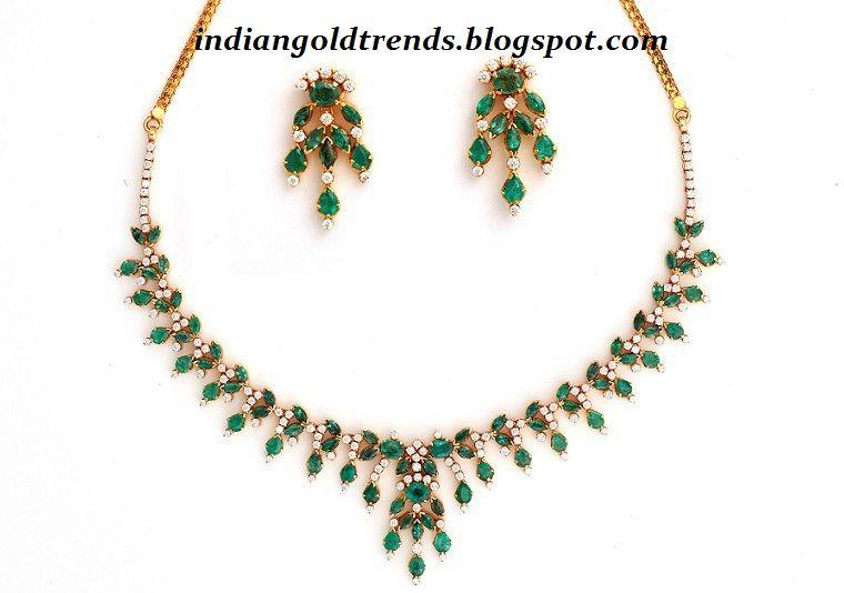 Simple Necklace Designs | ... and Diamond Jewellery Designs .