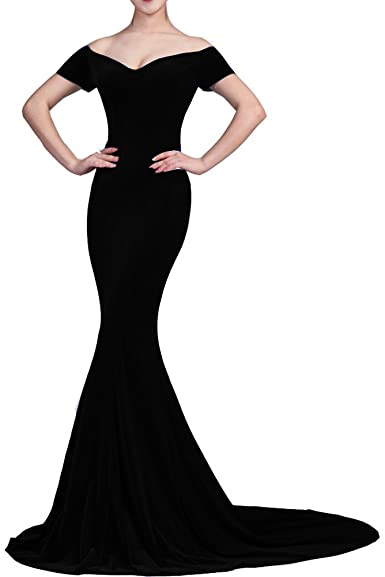 Lemai Velvet Long Simple Women Formal Prom Evening Pageant Dresses .
