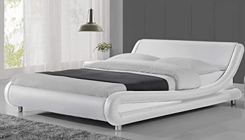 New Urest Queen Size Bed Frame Faux Leather Modern Platform Bed .