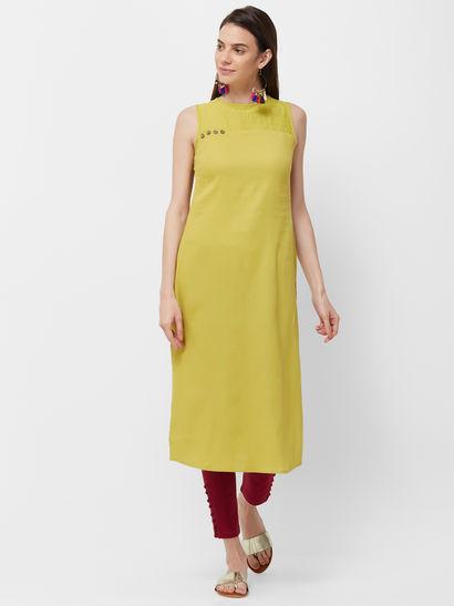 Sleeveless Kurti - Buy Sleeveless Kurtis Online for Women | Nykaa .