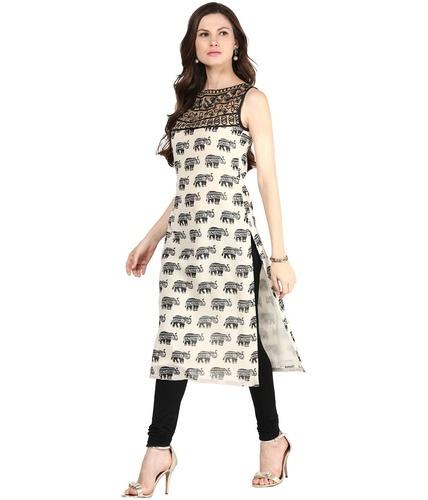 Cotton Sleeveless Long Kurti, Rs 150 /piece Surkan International .