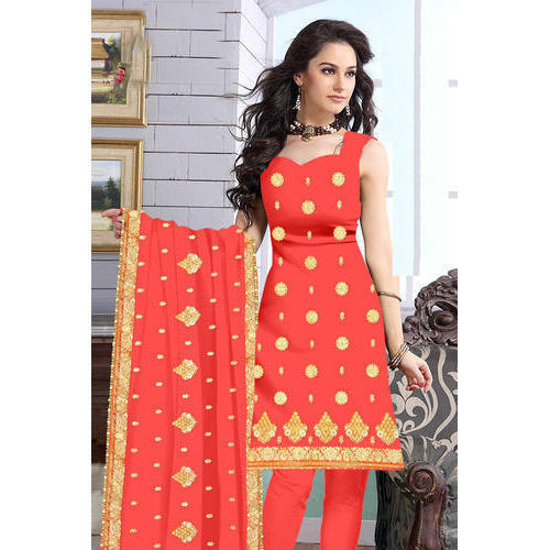 Party Wear Indian Sleeveless Salwar Suit, Semi-stitched, Rs 1200 .