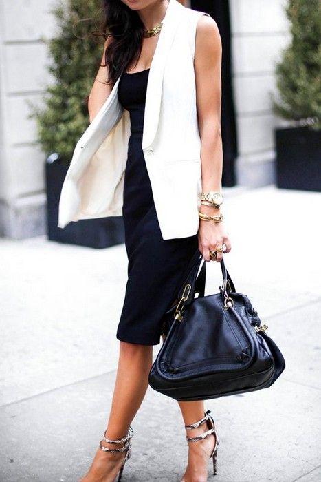 20 Looks with Long Sleeveless Vests Blazers Glamsugar.com Long .