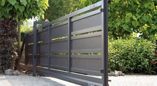 contemporary sliding gates - Google Search | Driveway Gate .