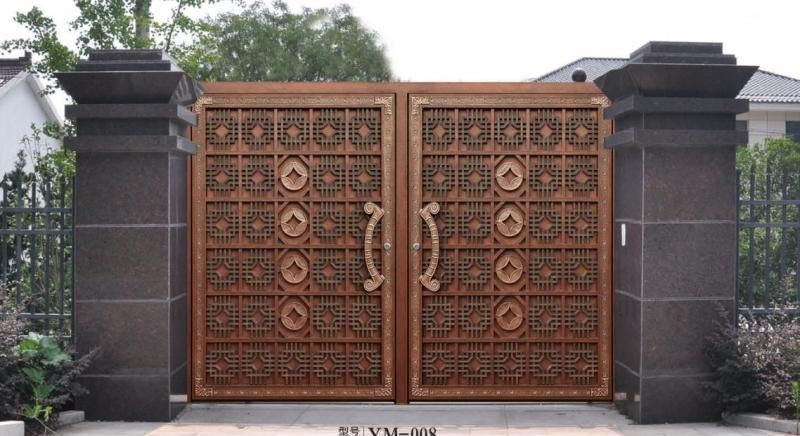 Home aluminium gate design / steel sliding gate / Aluminum fence .