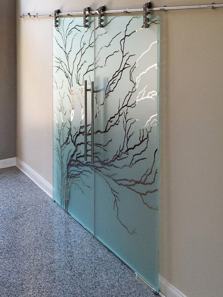 Etched Sliding Glass Doors & Dividers | Creative Mirror & Show