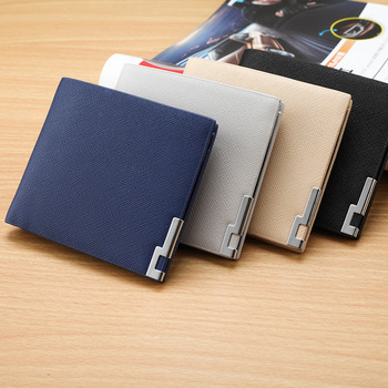 Best Selling Classic Long Customized Casual Style Man Slim Wallets .