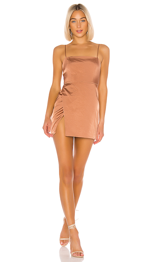 superdown Gianna Slit Mini Dress in Nude | REVOL