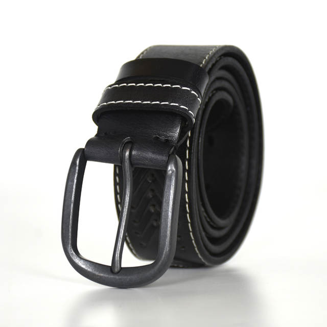 Winter leather belt men genuine leather belts for men sliver .