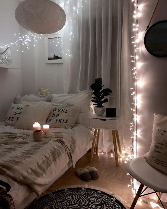 Pin by Yasmine Qurrataayyun on Bedroom ideas in 2020 | Cozy small .