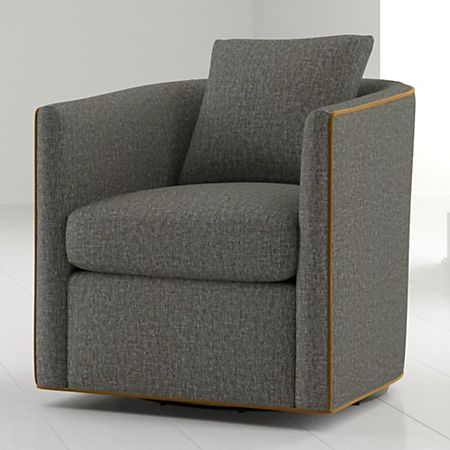 Drew Small Swivel Chair + Reviews | Crate and Barr