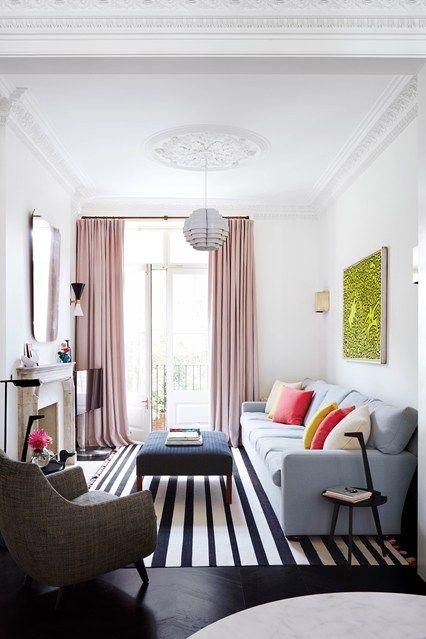 Narrow Living Room Solutions | Small living room decor, Small .