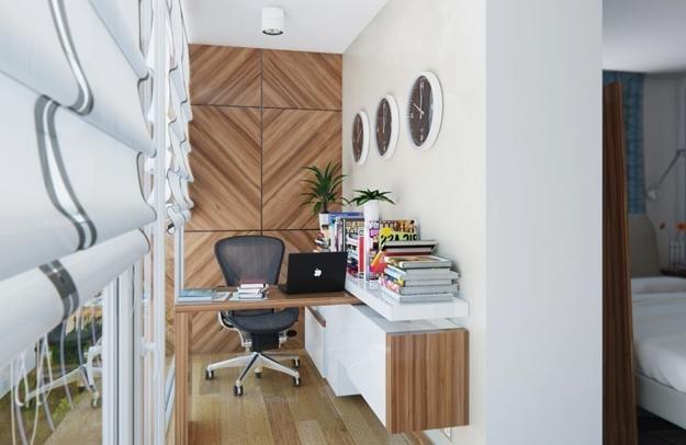 21 Modern Ideas to Brighten Up Small Office Desig