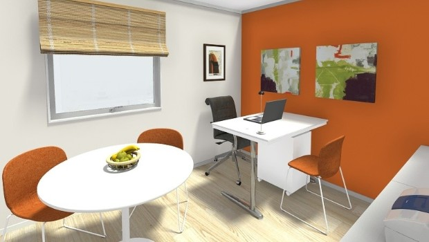 RoomSketcher Blog | 5 Great ideas for small office floor pla