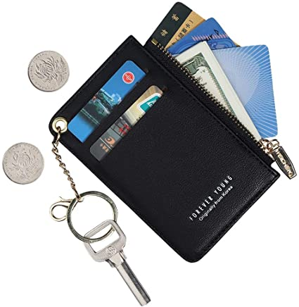 Small Wallets for Women Slim Leather Card Case Holder Wallet Coin .